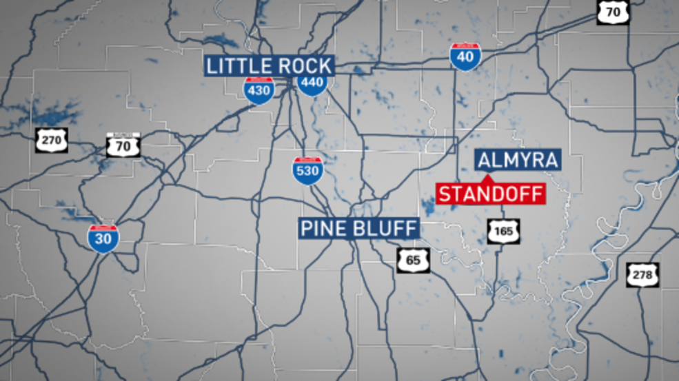 Suspect injured during standoff with law enforcement in Arkansas