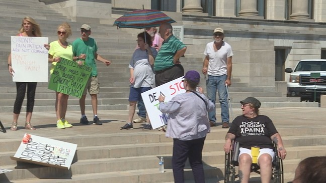 Little rock watch news weather sports breaking news katv chronic pain patients hold dont punish pain rally at arkansas capitol malvernweather Gallery