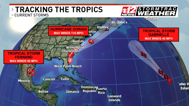 Hurricane Dorian upgraded to a Category 3 storm as it