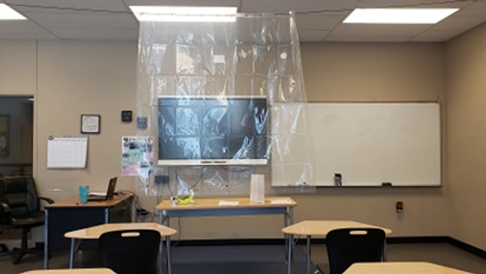 North Little Rock School District uses shower curtains as PPE