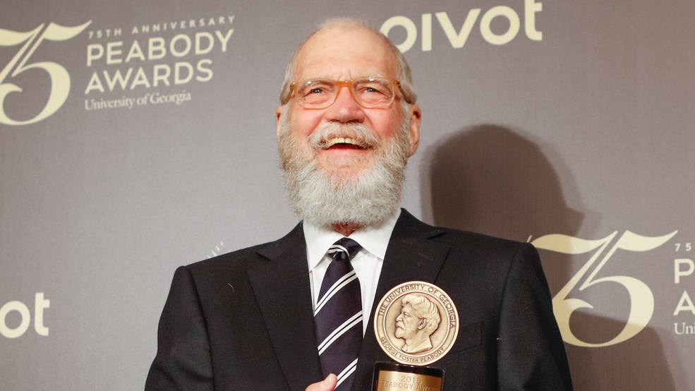 No Joke TV Host Letterman Honored With Mark Twain Prize At Kennedy Center In DC